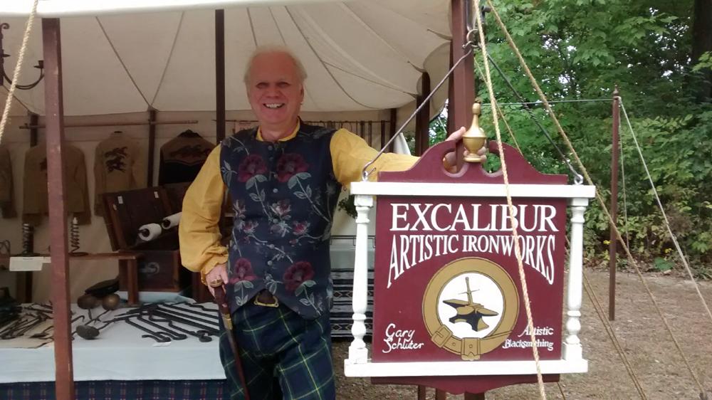 Penn's Colony Blacksmith Gary Schluter